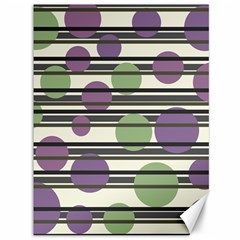 Purple and green elegant pattern Canvas 36  x 48