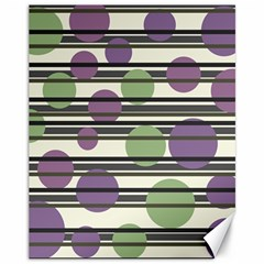 Purple and green elegant pattern Canvas 11  x 14