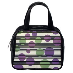 Purple and green elegant pattern Classic Handbags (One Side)