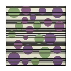 Purple and green elegant pattern Face Towel