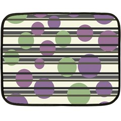 Purple and green elegant pattern Fleece Blanket (Mini)