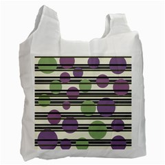 Purple and green elegant pattern Recycle Bag (Two Side)