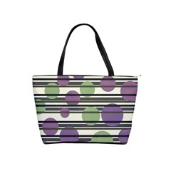 Purple and green elegant pattern Shoulder Handbags