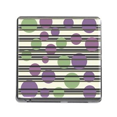 Purple and green elegant pattern Memory Card Reader (Square)