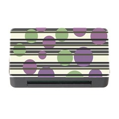 Purple and green elegant pattern Memory Card Reader with CF