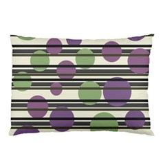 Purple and green elegant pattern Pillow Case (Two Sides)