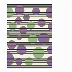 Purple and green elegant pattern Small Garden Flag (Two Sides)