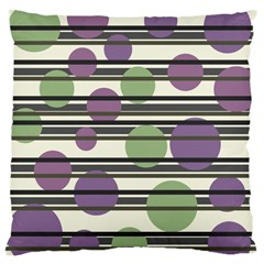 Purple and green elegant pattern Large Cushion Case (One Side)