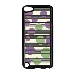Purple And Green Elegant Pattern Apple Ipod Touch 5 Case (black)