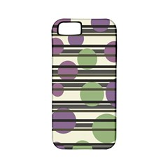 Purple and green elegant pattern Apple iPhone 5 Classic Hardshell Case (PC+Silicone)