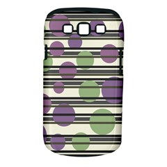 Purple and green elegant pattern Samsung Galaxy S III Classic Hardshell Case (PC+Silicone)