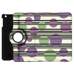 Purple and green elegant pattern Apple iPad Mini Flip 360 Case