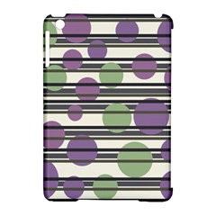 Purple and green elegant pattern Apple iPad Mini Hardshell Case (Compatible with Smart Cover)