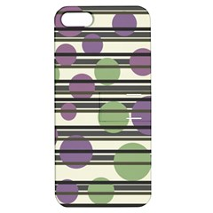 Purple And Green Elegant Pattern Apple Iphone 5 Hardshell Case With Stand