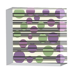 Purple and green elegant pattern 5  x 5  Acrylic Photo Blocks