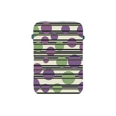 Purple and green elegant pattern Apple iPad Mini Protective Soft Cases