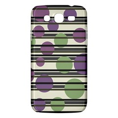 Purple and green elegant pattern Samsung Galaxy Mega 5.8 I9152 Hardshell Case
