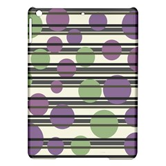Purple and green elegant pattern iPad Air Hardshell Cases
