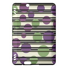 Purple and green elegant pattern Kindle Fire HDX Hardshell Case