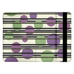 Purple and green elegant pattern Samsung Galaxy Tab Pro 12.2  Flip Case