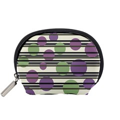 Purple and green elegant pattern Accessory Pouches (Small)