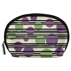 Purple and green elegant pattern Accessory Pouches (Large)