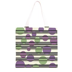 Purple and green elegant pattern Grocery Light Tote Bag