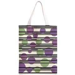 Purple and green elegant pattern Classic Light Tote Bag