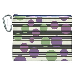 Purple and green elegant pattern Canvas Cosmetic Bag (XXL)
