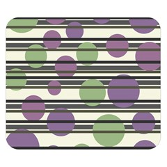 Purple and green elegant pattern Double Sided Flano Blanket (Small)