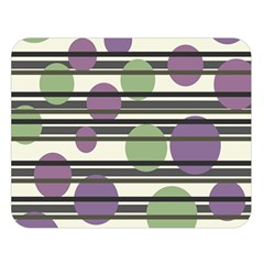 Purple and green elegant pattern Double Sided Flano Blanket (Large)