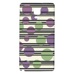 Purple and green elegant pattern Galaxy Note 4 Back Case