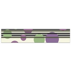 Purple and green elegant pattern Flano Scarf (Small)