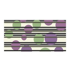 Purple and green elegant pattern Satin Wrap