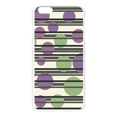Purple and green elegant pattern Apple Seamless iPhone 6 Plus/6S Plus Case (Transparent)