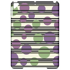 Purple And Green Elegant Pattern Apple Ipad Pro 9 7   Hardshell Case