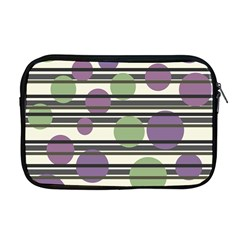 Purple And Green Elegant Pattern Apple Macbook Pro 17  Zipper Case