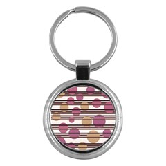 Simple decorative pattern Key Chains (Round)