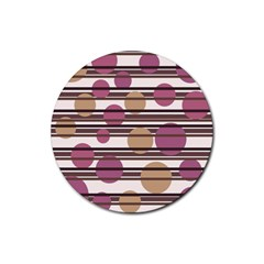Simple decorative pattern Rubber Coaster (Round)