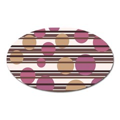 Simple decorative pattern Oval Magnet