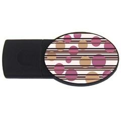 Simple decorative pattern USB Flash Drive Oval (1 GB)