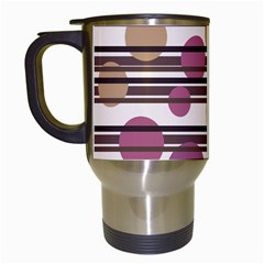 Simple decorative pattern Travel Mugs (White)