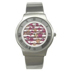 Simple decorative pattern Stainless Steel Watch