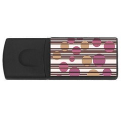 Simple decorative pattern USB Flash Drive Rectangular (4 GB)