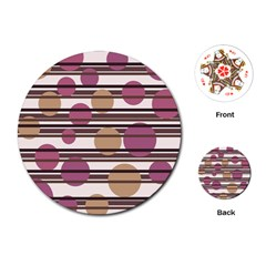 Simple decorative pattern Playing Cards (Round)