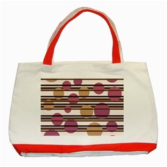 Simple decorative pattern Classic Tote Bag (Red)