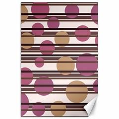Simple decorative pattern Canvas 24  x 36