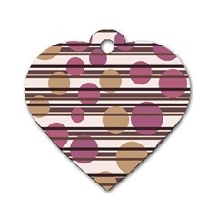 Simple decorative pattern Dog Tag Heart (Two Sides)