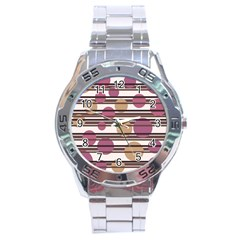 Simple decorative pattern Stainless Steel Analogue Watch