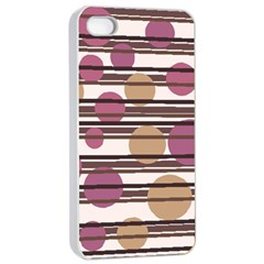 Simple decorative pattern Apple iPhone 4/4s Seamless Case (White)